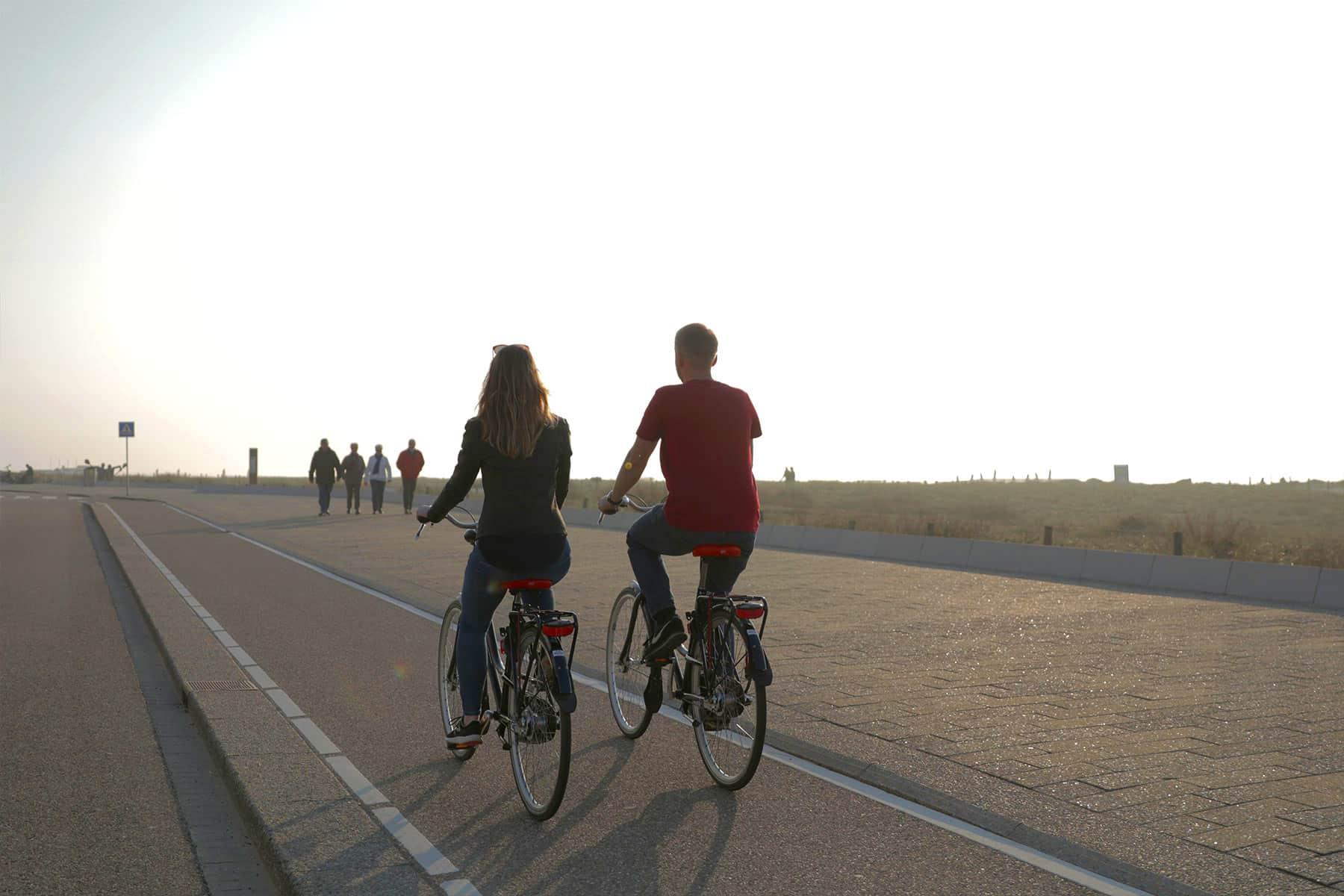 Fietsen door Katwijk