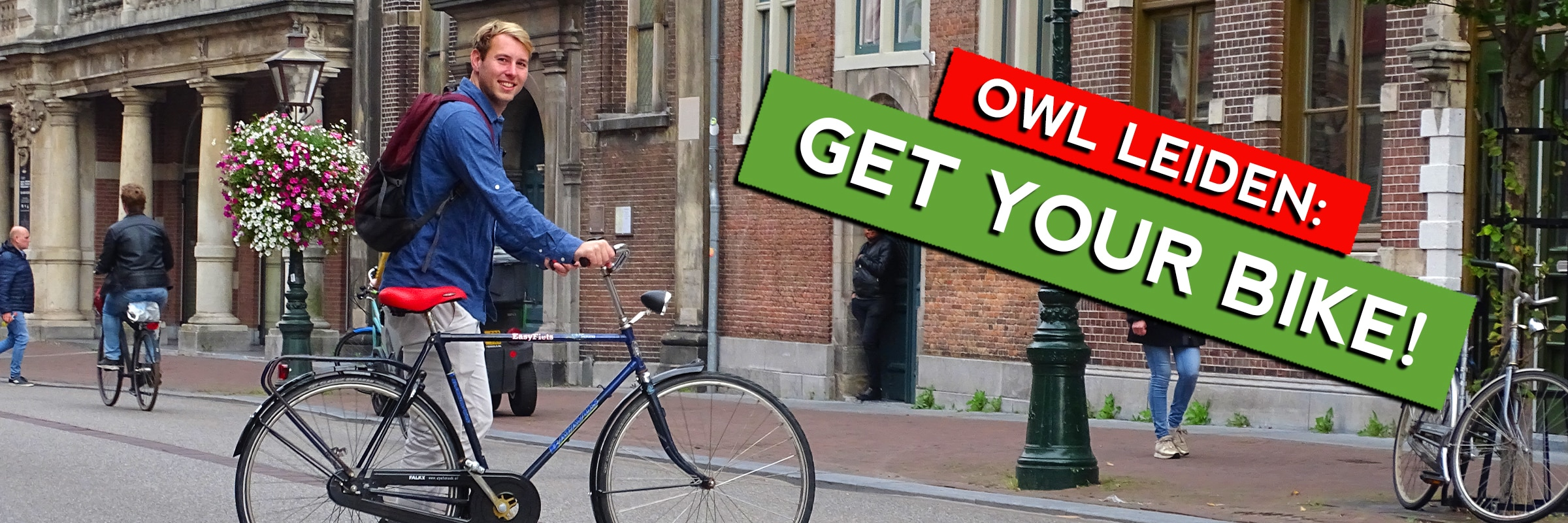 Get a bike in Leiden rent or lease it for a monthly-fee including service and maintenance. Choose your fiets at EasyFiets during the OWL Leiden