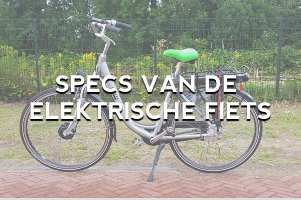 Welke specs heeft de elektrische fiets? Bij fietsverhuur EasyFiets in Leiden verhuren wij een e-bike met voorwielmotor.