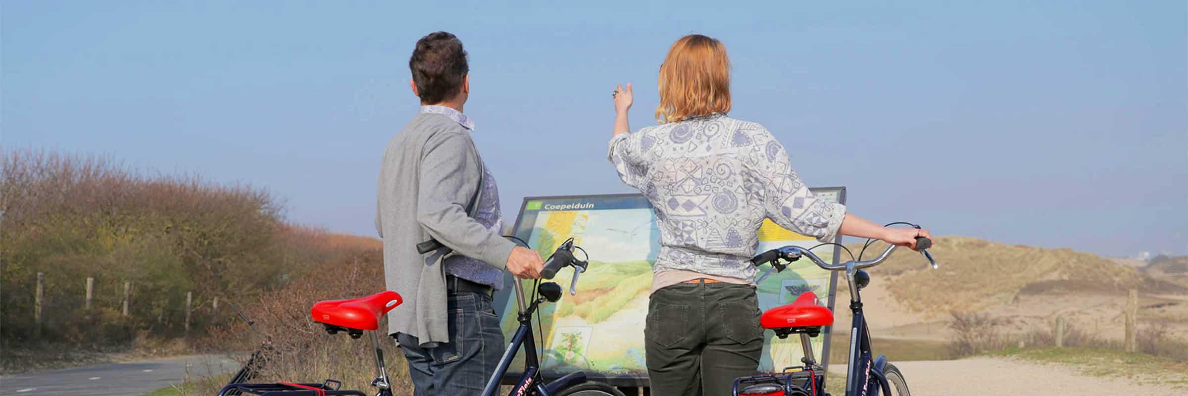 Leuke fietstocht door de duinen en naar het strand bij fietsverhuur EasyFiets in Leiden.