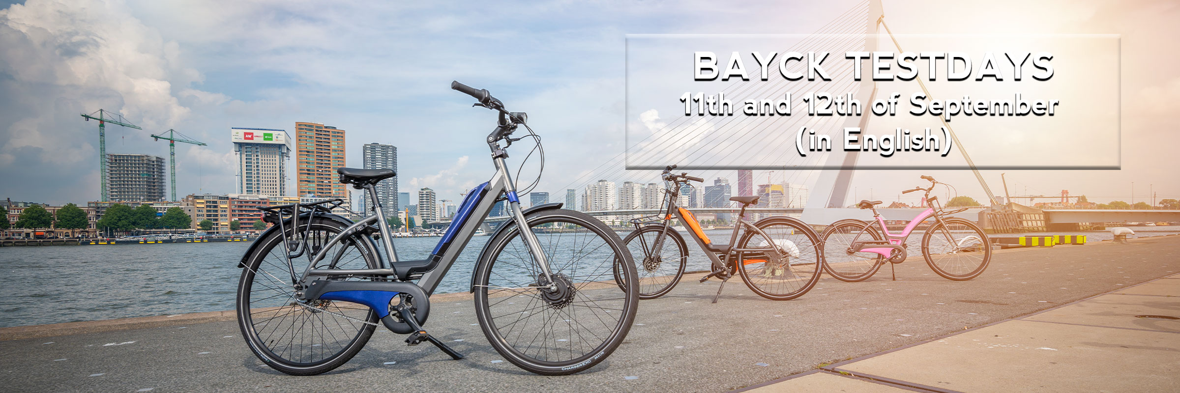 Try out your E-bike at EasyFiets Bike store.